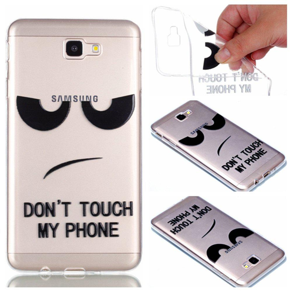 Discount for Samsung J7 Prime Eyes Painted Soft Clear TPU Phone Casing Mobile Smartphone Cover Shell Case