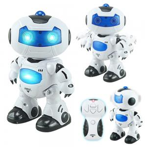 Electric Intelligent Cute Remote Controlled Musical Dancing Robot Walk Lightening Toy -