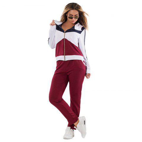 Trendy Daifansen Autumn Winter Splicing and Leisure Big Code Sports Suit