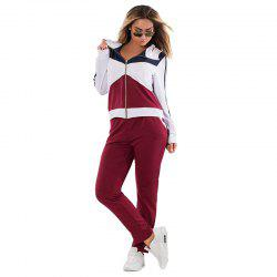 Daifansen Autumn Winter Splicing and Leisure Big Code Sports Suit -