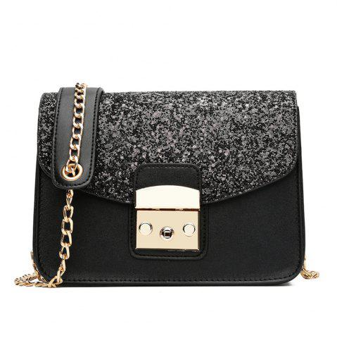 Trendy Sequin Small Female Square Package Simple Portable Shoulder Messenger Chain Handbags