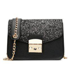 Sequin Small Female Square Package Simple Portable Shoulder Messenger Chain Handbags -