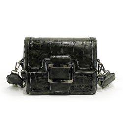 Small Fashion Crocodile Pattern Square Handbag Shoulder Messenger Bag -