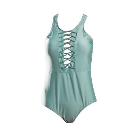 Unique The New Sexy Pure Color Conjoined Multi-Rope Ladies' Swimsuit