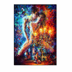 Modern Hand Painted Abstract Palette Knife Figure Art Lovers Oil Painting Living Room Home Wall Decor No Framed -