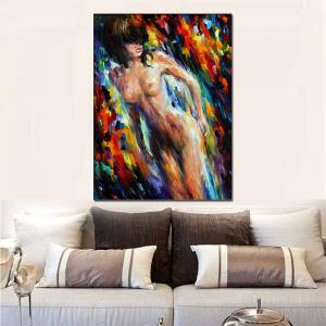 Hand Painted Abstract Nude Girl Figure Oil Painting on Canvas Wall Picture Room Decoration No Framed -