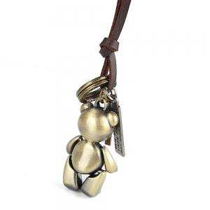 Europe and The United States Trendy Casual Wild Long Cute Bear Leather Rope Necklace -