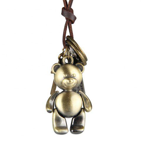 Best Europe and The United States Trendy Casual Wild Long Cute Bear Leather Rope Necklace