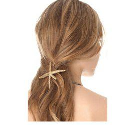 Fashion Metal Starfish Hairpin -