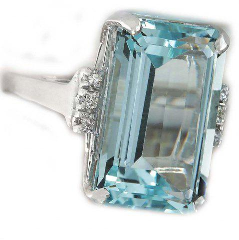 Fashion European and American Fashion Sky Blue Gem Engagement Ring