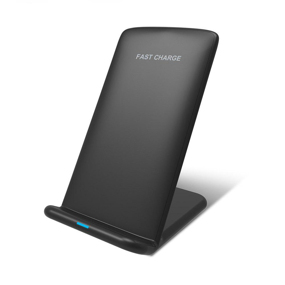 Shops Fast Wireless Charging Stand for iPhone X 8 8 Plus Qi Fast Wireless Charger for Samsung Galaxy Note 8 S8 Plus