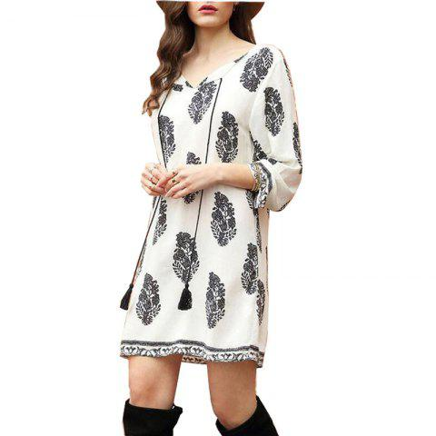 Chic 2018 New Leaf Print Dress