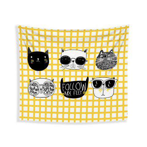 Unique Cartoon Cats Living Room Tapestry Wall Beach Towel Cushion Printed Cloth Wrap Skirt