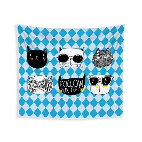 Best Cartoon Cats Living Room Tapestry Wall Beach Towel Cushion Printed Cloth Wrap Skirt