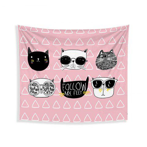 Fancy Cartoon Cats Living Room Tapestry Wall Beach Towel Cushion Printed Cloth Wrap Skirt