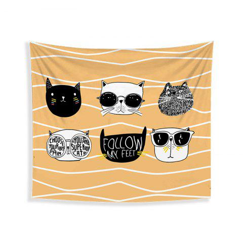 Sale Cartoon Cats Living Room Tapestry Wall Beach Towel Cushion Printed Cloth Wrap Skirt