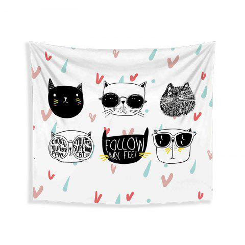 Online Cartoon Cats Living Room Tapestry Wall Beach Towel Cushion Printed Cloth Wrap Skirt