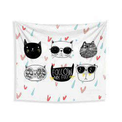 Cartoon Cats Living Room Tapestry Wall Beach Towel Cushion Printed Cloth Wrap Skirt -