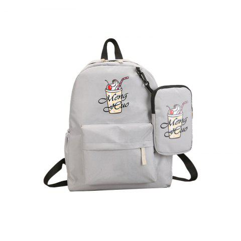 Shop Ice Cream Printing Nylon Travel Backpack