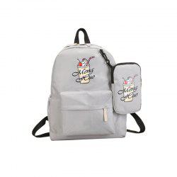 Ice Cream Printing Nylon Travel Backpack -