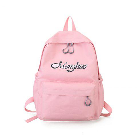Fancy Embroidery Letters  Canvas Backpack