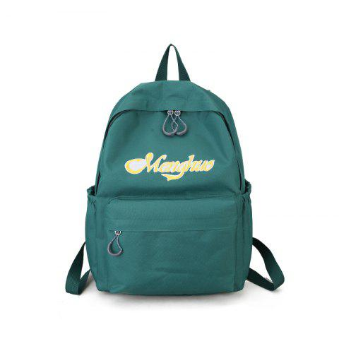 New Embroidery Letters  Canvas Backpack