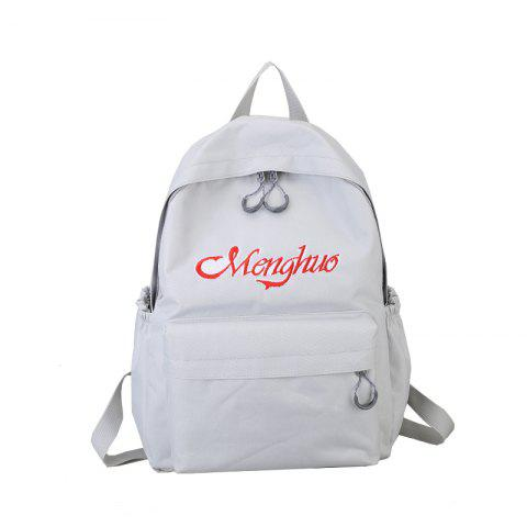 Cheap Embroidery Letters  Canvas Backpack
