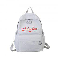 Embroidery Letters  Canvas Backpack -