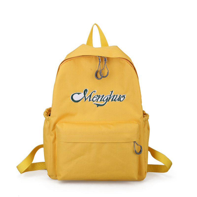 Chic Embroidery Letters  Canvas Backpack