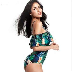 One Shoulder Printing One-Piece Swimsuit -