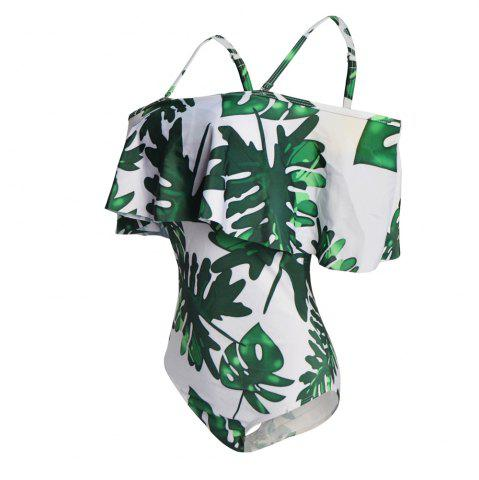 Hot One Shoulder Printing One-Piece Swimsuit