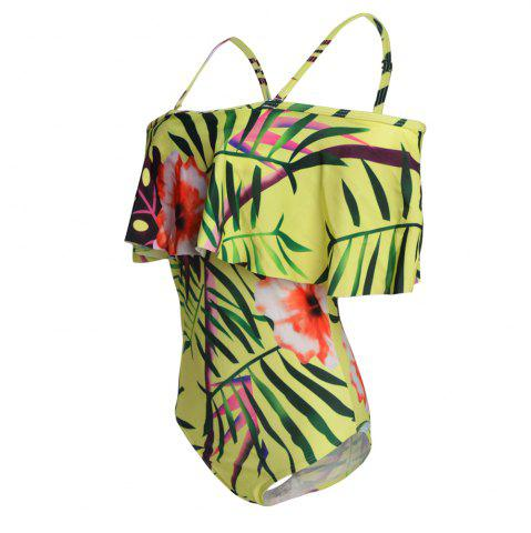 Fancy One Shoulder Printing One-Piece Swimsuit