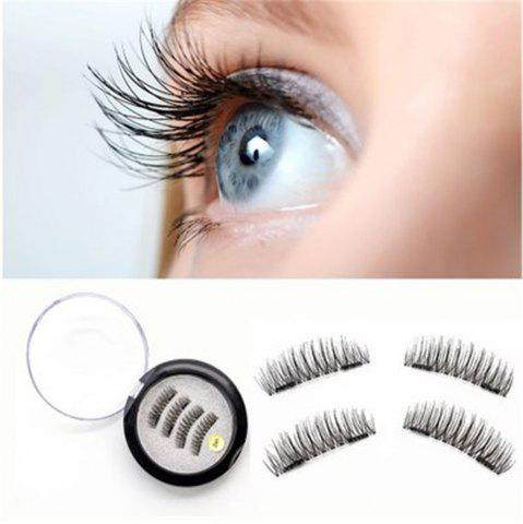 Cheap 4PCS 3D Magnetic False Eyelashes Natural Soft Makeup Reusable Magnet Extension