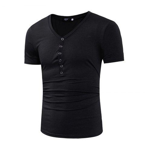 Men s Fashion Special Collar Fashion Casual T Shirt