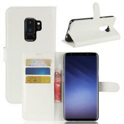 Phone Cover PU Case Skin with Stand for Samsung Galaxy S9 Plus -