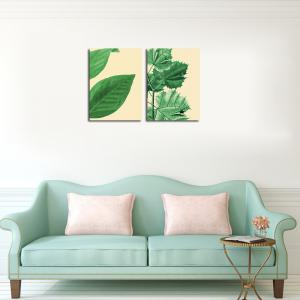 QiaoJiaHuaYuan The Frame of the Frame of Unframed Canvas is Decorated With Small and Fresh Plant Leaves -