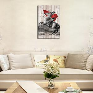 QiaoJiaHuaYuan No Frame Canvas Living Room Sofa Background art Decapitation Hangs a Horse Riding Warrior -