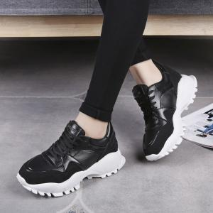 Fashion Leisure Rubber Sole Increaced Internal Sneakers -