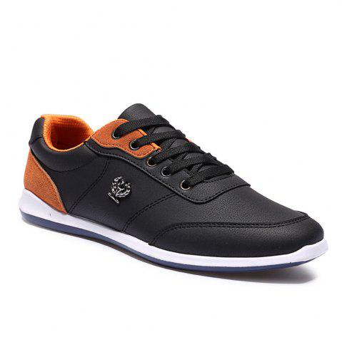 New Men's Fashion Splicing and PU Leather Design Casual Shoes