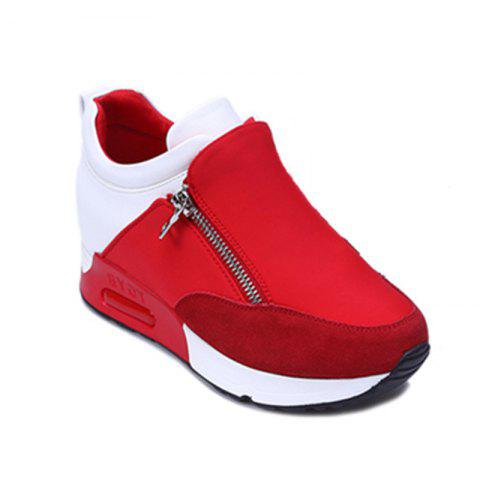 Shops Round Head Thick Bottom Side Zipper Inside Lift Shoes