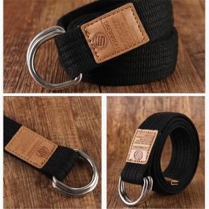 Double loop canvas belt and outdoor leisure cloth belt for young students all-match Fashion Jeans Belt -
