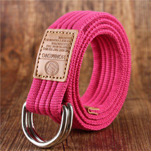 Outfit Double loop canvas belt and outdoor leisure cloth belt for young students all-match Fashion Jeans Belt