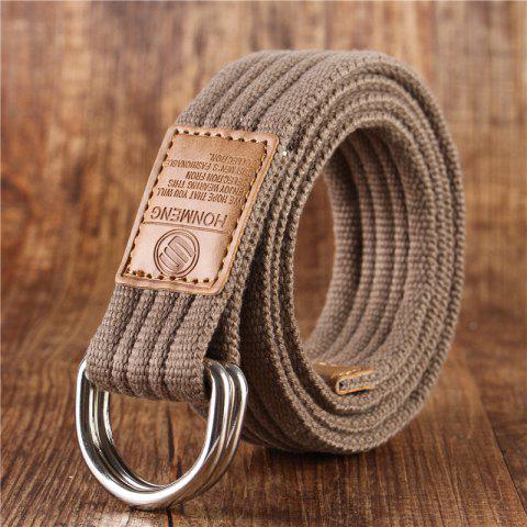 Unique Double loop canvas belt and outdoor leisure cloth belt for young students all-match Fashion Jeans Belt