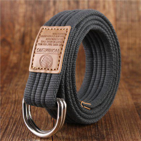 Outfits Double loop canvas belt and outdoor leisure cloth belt for young students all-match Fashion Jeans Belt