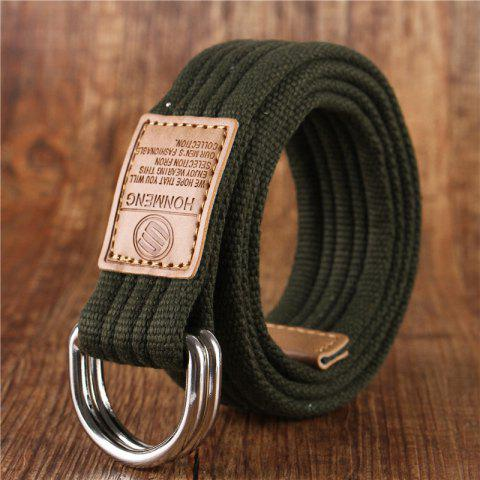 Buy Double loop canvas belt and outdoor leisure cloth belt for young students all-match Fashion Jeans Belt