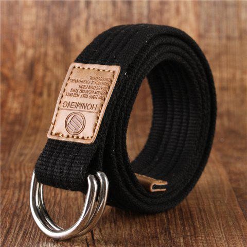Latest Double loop canvas belt and outdoor leisure cloth belt for young students all-match Fashion Jeans Belt