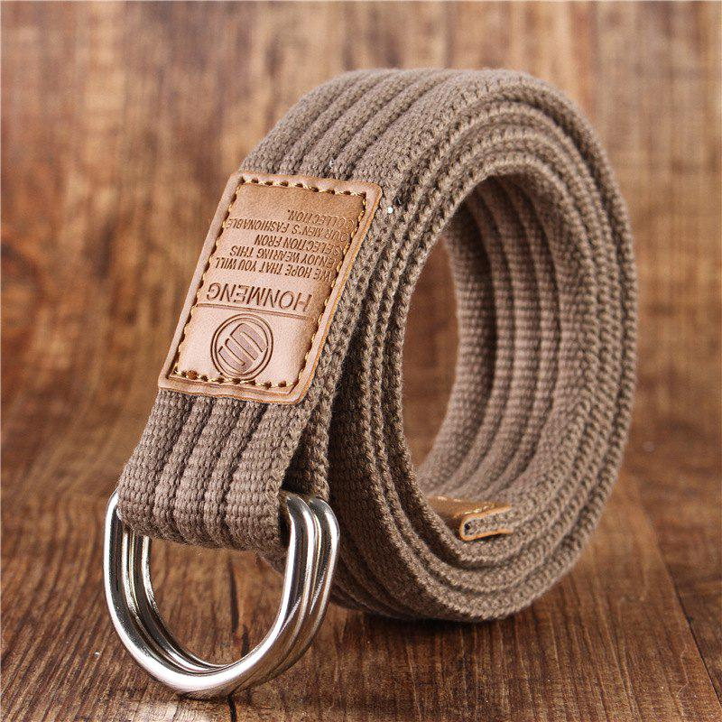 Unique Double loop belt and outdoor leisure cloth belt for young students all-match Fashion Jeans Belt