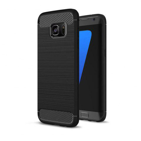 Корпус для Samsung Galaxy S7 Edge Luxury Carbon Fiber Anti Drop TPU Мягкая обложка