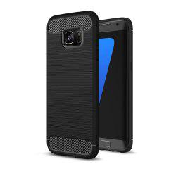 Case for Samsung Galaxy S7 Edge Luxury Carbon Fiber Anti Drop TPU Soft Cover -