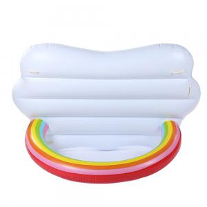 Inflatable Rainbow Bridge Pool Lounger Swimming Floating Float Bed and Electric Charge Pump -